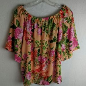 smell the roses Tops - Smell the roses size large pullover floral blouse
